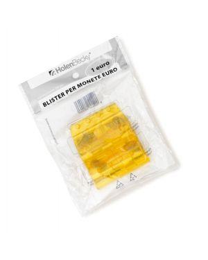 Blister 20 Portamonete in PVC 1euro giallo 8006/20