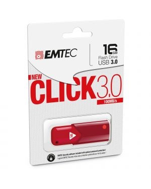 Memoria usb 3.0 b100 16gb red ECMMD16GB103R 3126170152015 ECMMD16GB103R by Emtec