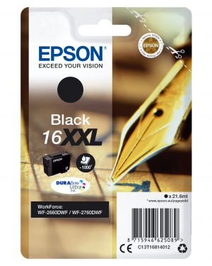 Singlepblack16xxldurabr.ultrink EPSON - CONSUMER INK (S1) C13T16814012 8715946625089 C13T16814012
