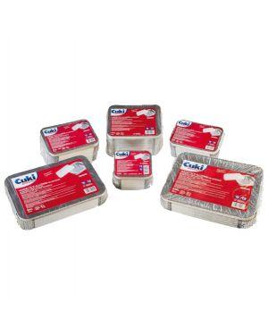 Pack 25 contenitori alluminio 8 porzioni + coperchio cuki 152709897 8003980590068 152709897