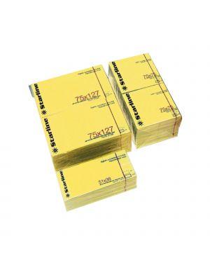 Blocchetto biglietti adesivi giallo 75x125mm 100fg 70gr starline Q900053 STL2529 A Q900053