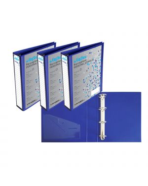 Raccoglitore kingshow 50 a4 4d blu 22x30cm personalizzabile starline 040206bl