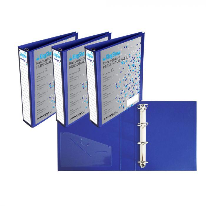 Raccoglitore kingshow 50 a4 4d blu 22x30cm personalizzabile starline 040206bl by Starline