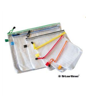 Busta in pvc a rete b4-31,2x41,2cm con cerniera verde 3303 stl 8025133103161 3303 stl by Starline