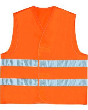 Gilet alta visibilita' arancio fluo tg. l GILP2OR-GT 3295249157036 GILP2OR-GT_76325