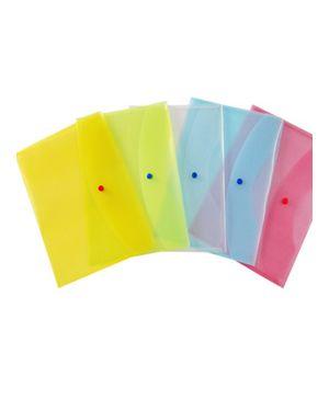 Busta con bottone 22x30cm colori ass. Starline Confezione da 5 pezzi 030025as_STL7301 by No