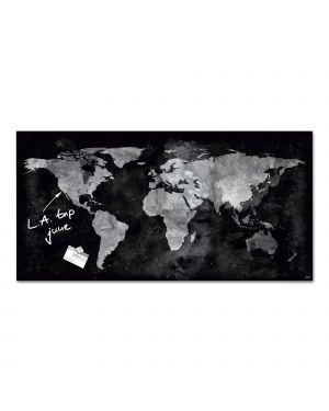 Lavagna magnetica in vetro 46x91cm world map artverum® sigel RGL270  RGL270_80104