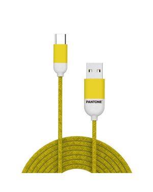 Type-c cable yellow 1 5 mt Pantone PT-TC001-5Y 4713213361252 PT-TC001-5Y