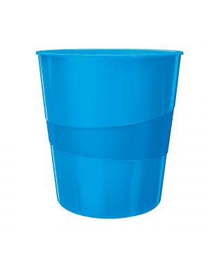 Cestino gettacarte wow blu metallizzato 15lt leitz 52781036_80516