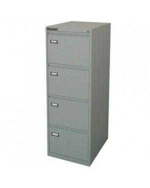 Classificatore kubo 4 cassetti per cart. Sospese grigio h 132cm 4004_80126