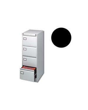 Classificatore metallico 4 cassetti per cartelle sospese nero NO BRAND 4104 2000001672785 4104_80127