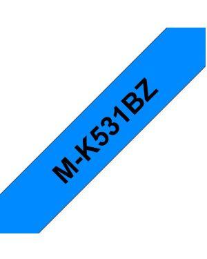 Nastro tipom nero su blu 12mm pt65 Brother MK531BZ 4977766625104 MK531BZ