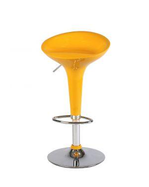 Sgabello bar in abs e acciaio h55/78cm giallo HC148Y