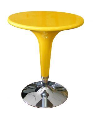 Tavolo bar Ø60cm in ABS e acciaio h72/92cm Giallo HC170Y