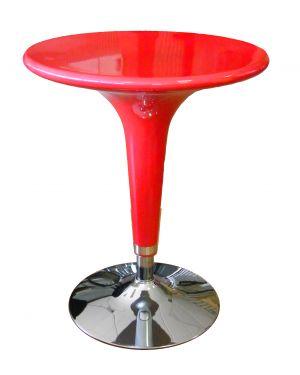 Tavolo bar Ø60cm in ABS e acciaio h72/92cm Rosso HC170R