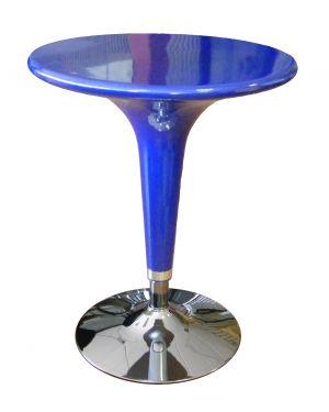 Tavolo bar Ø60cm in ABS e acciaio h72/92cm Blu HC170B