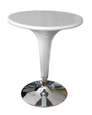 Tavolo bar Ø60cm in ABS e acciaio h72/92cm Grigio HC170G
