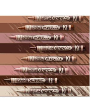24 pastelli cera world colours Crayola 52-0114 71662301149 52-0114