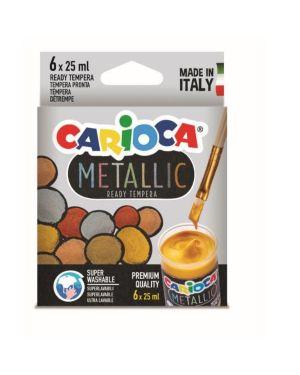 tempera metallic vasetti 25ml Carioca KO026 8003511026004 KO026