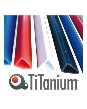 25 dorsi rilegafogli 4mm bianco titanium DOR.RIL 4Wh_81412