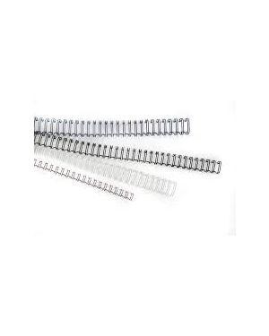 Scatola 50 dorsi metallo 12mm silver 34 anelli titanium DOR.MET 12S_81432