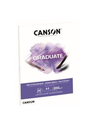 Blocco  mix media a3 20fg. 200 g Canson C400110378 3148950021212 C400110378