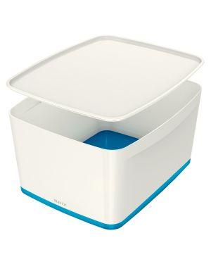 Leitz MyBox® Contenitore blu metallizzato con coperchio L ES_52161036