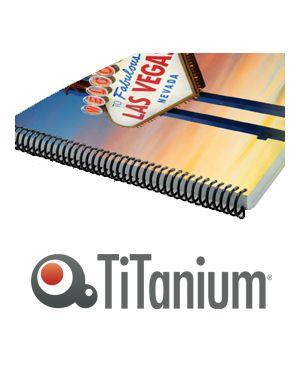 Scatola 50 dorsi metallo 6mm nero 34 anelli titanium DOR.MET 6N_81437