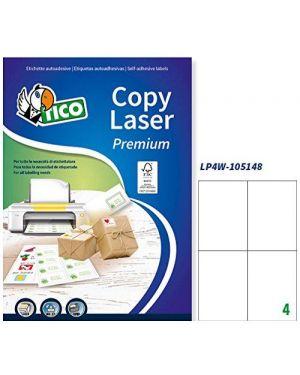 Etichetta adesiva lp4w bianca 100fg a4 105x148mm (4et - fg) laser tico LP4W-105148 8007827290258 LP4W-105148_83225