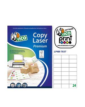 Etichetta adesiva lp4w bianca 100fg a4 70x37mm (24et - fg) laser tico LP4W-7037 8007827290227 LP4W-7037_83226