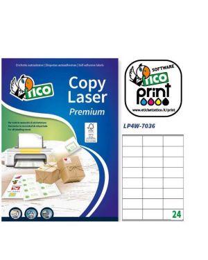 Etichetta adesiva lp4w bianca 100fg a4 70x36mm (24et - fg) laser tico LP4W-7036 8007827290012 LP4W-7036_83227