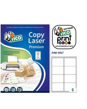 Etichetta adesiva lp4w bianca 100fg a4 99,1x67,7mm (8et - fg) laser tico LP4W-9967 8007827290319 LP4W-9967_83233