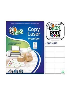 Etichetta adesiva lp4w bianca 100fg a4 105x57mm (10et - fg) laser tico LP4W-10557 8007827291149 LP4W-10557_83239