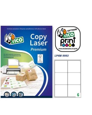 Etichetta adesiva lp4w bianca 100fg a4 99,1x93,1mm (6et - fg) laser tico LP4W-9993 8007827290326 LP4W-9993_83241