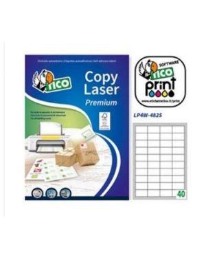 Etichetta adesiva lp4w bianca 100fg a4 48,5x25,4mm (40et/fg) laser Tico LP4W-4825_83246