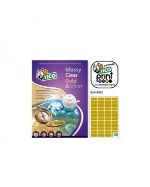 Etichetta adesiva gl4 ovale oro satinata 100fg a4 36x20mm (60et/fg) tico GL4-3620_83250