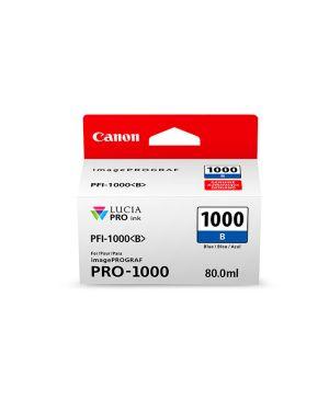 Cartuccia blu per canon pfi-1000 0555C001 4549292046595 0555C001_CANPFI1000B