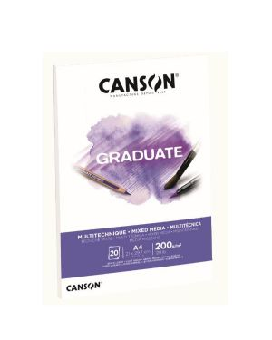 Blocco  mix media a4 20fg. 200 g Canson C400110377 3148950021199 C400110377