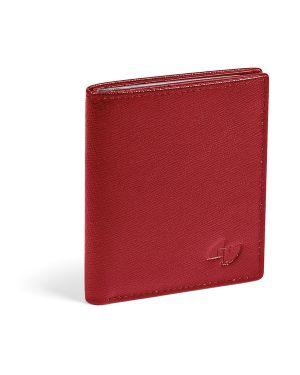 Portacard in pelle saffiano 8x9,5cm 16 card rosso niji 65087 8002787650876 65087_82265 by No