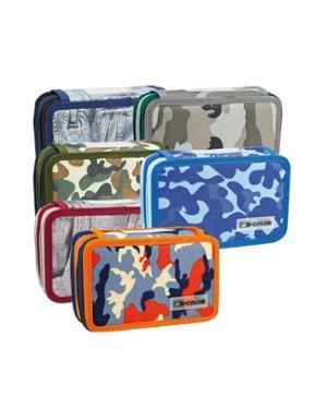 Astuccio 3 zip camouflage 13x20x7,5cm colori assortiti balmar 2000 Confezione da 12 pezzi PFASTH3_82391 by No