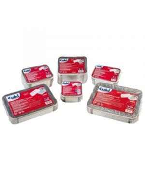 Pack 25 contenitori alluminio 8 porzioni + coperchio cuki 131-R98L+COP 8003980590068 131-R98L+COP_82648