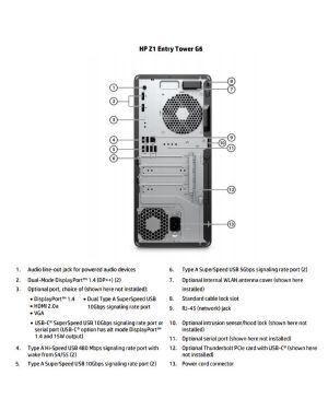 Z1 g6 twr i5-10400 16 - 256 wifi HP Inc 432A8ES 196068927349 432A8ES