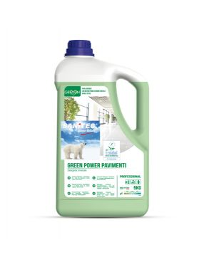 Detergente pavimenti tanica 5lt green power sanitec 3105 8032680393679 3105_82782