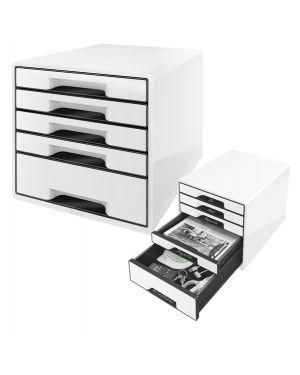 Cassettiera drawer cabinet cube 5 bianco leitz 52531001_83028