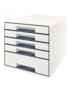 Cassettiera drawer cabinet cube 5 bianco leitz 52531001_83028 by No