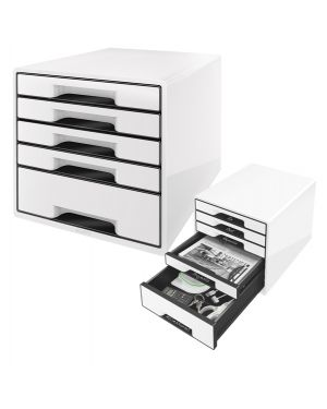 Cassettiera drawer cabinet cube 5 bianco leitz 52531001 4002432115495 52531001_83028 by No