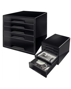 Cassettiera drawer cabinet cube 5 nero leitz 52531095 4002432115501 52531095_83029 by No