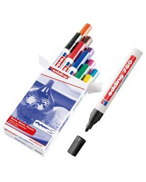 Astuccio 10 marcatori 750 punta media vernice colori assortiti edding 4-750-9-999 4004764087716 4-750-9-999_83093 by No
