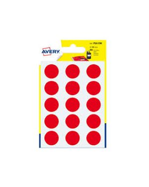 Blister 168 etichetta adesiva tonda psa rosso Ø15mm avery PSA15R_83401