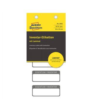 Etichetta inventario autoplast. 50x20mm (5et/fg   10fg) 6901 avery 6901_83463